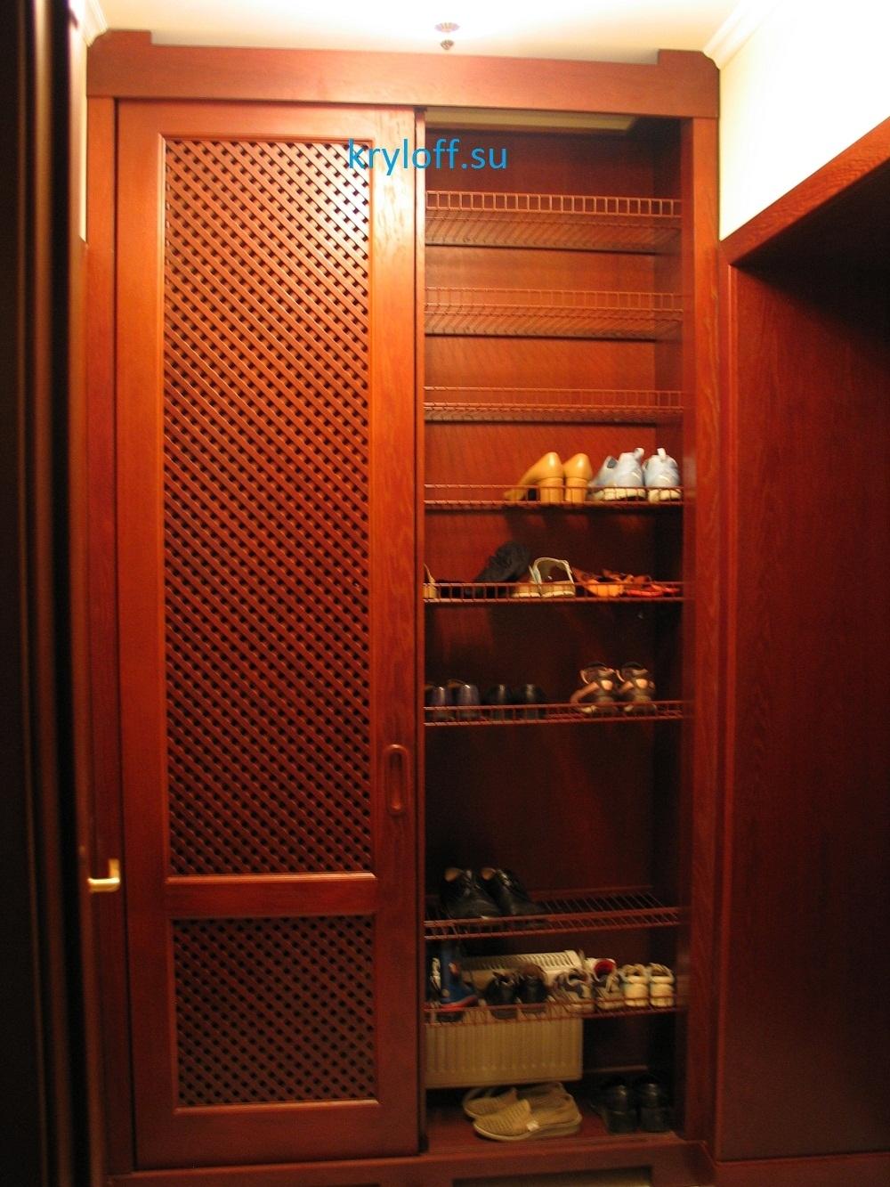 012 Обувной шкаф с раздвижными дверками