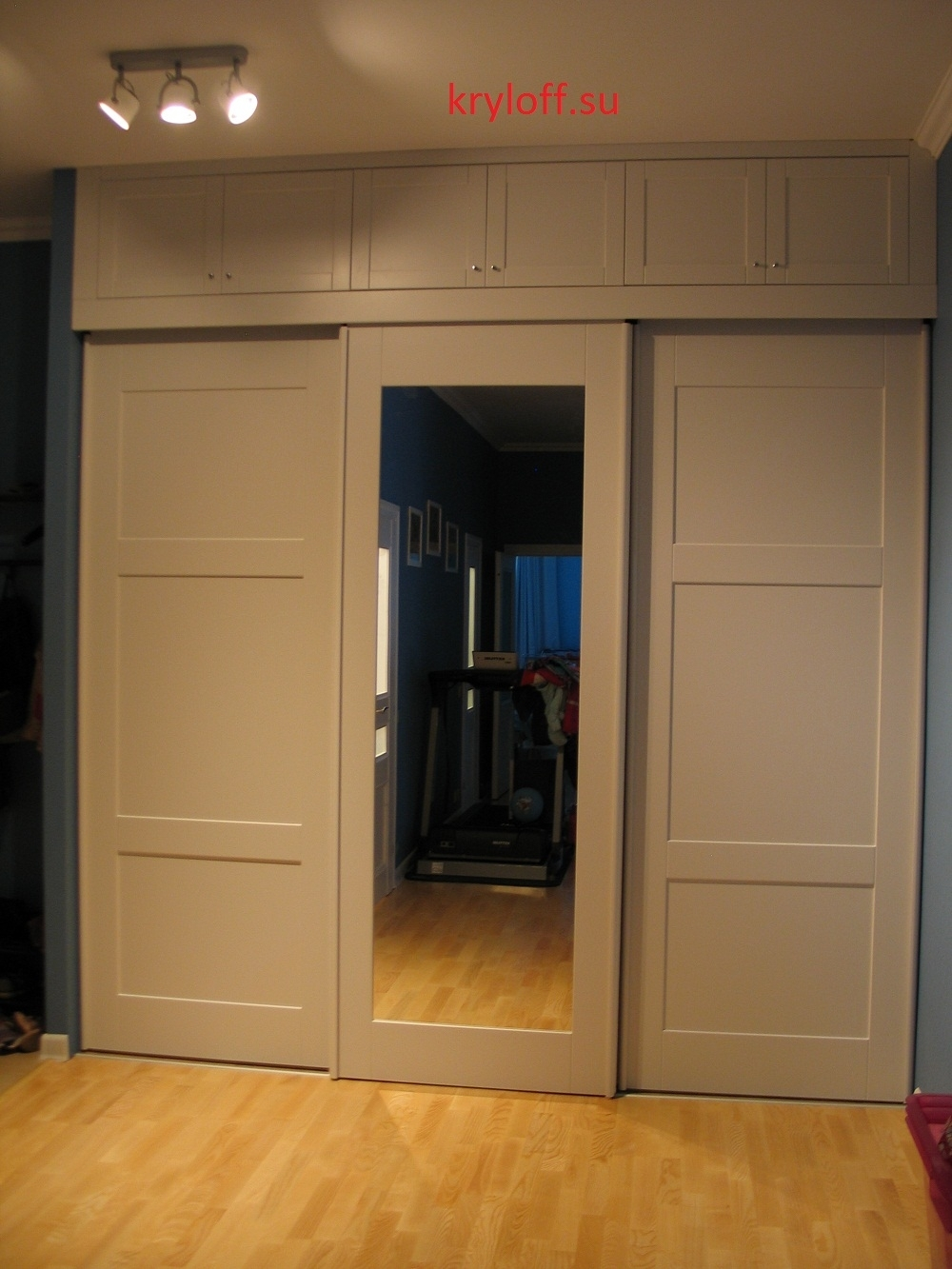 012 Раздвижные двери с зеркалом