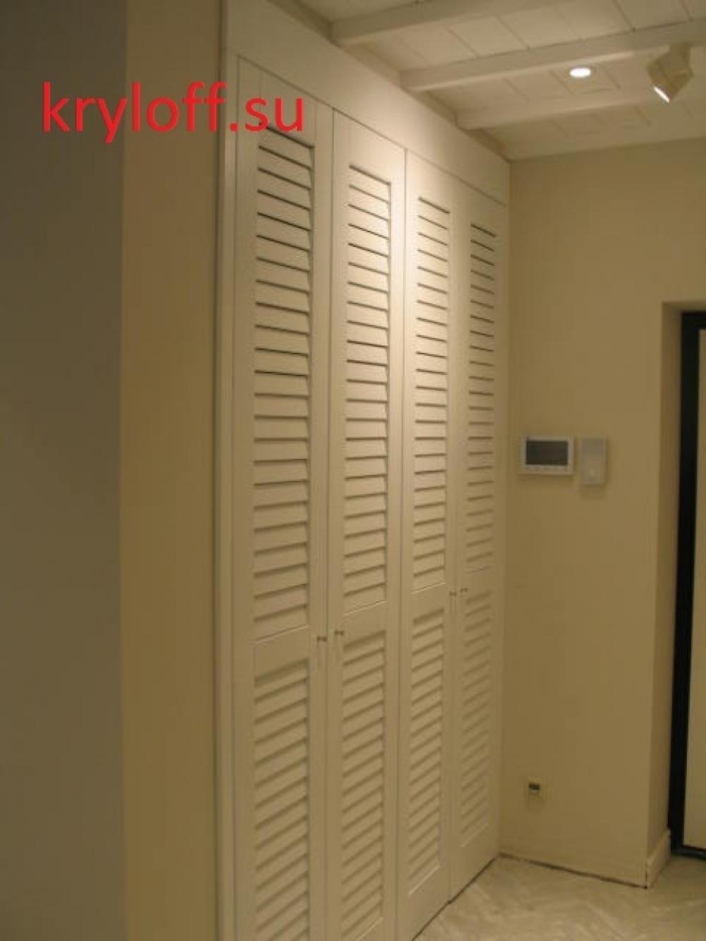 009 Деревянные двери для распашного платяного шкафа