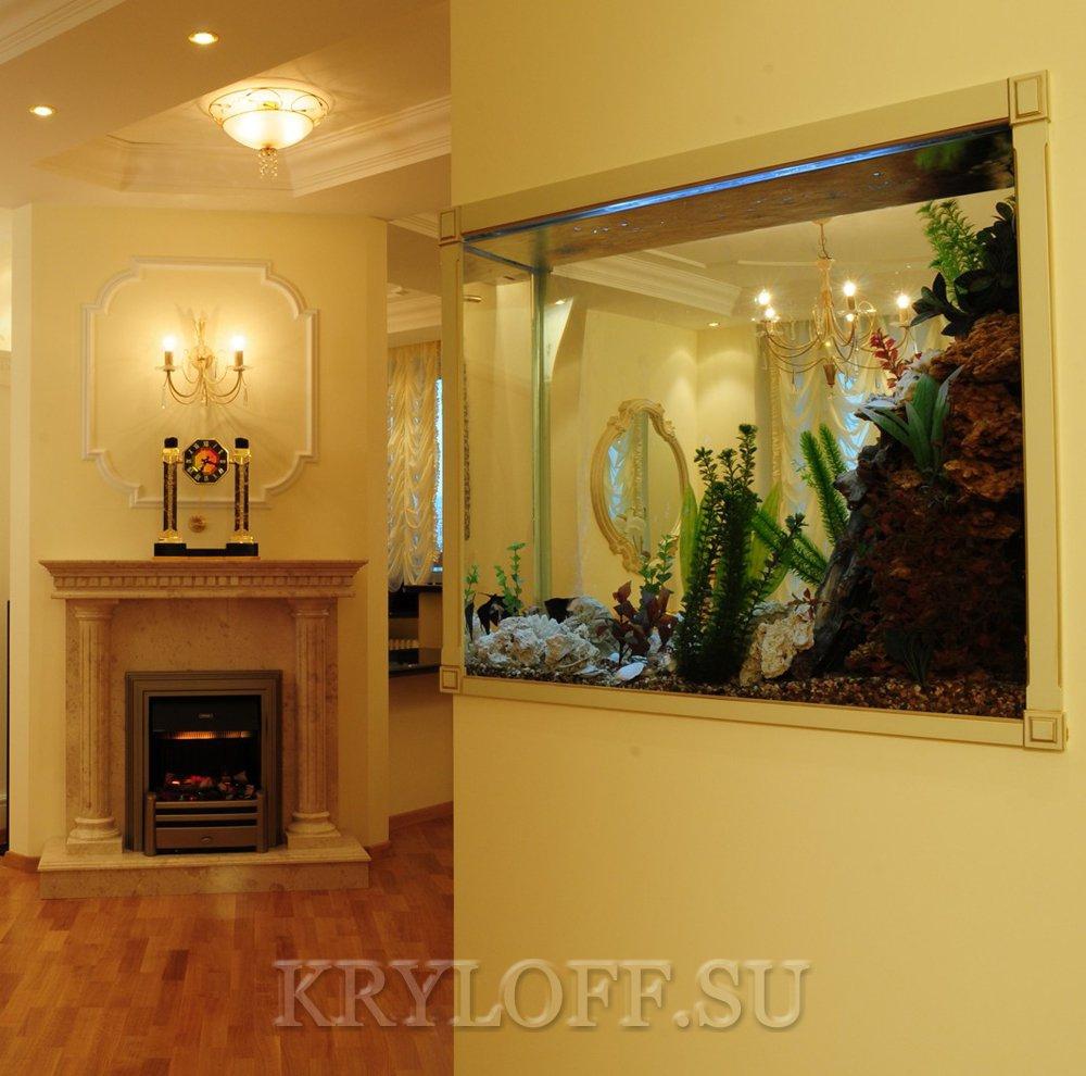 Облицовка аквариумов деревом 1