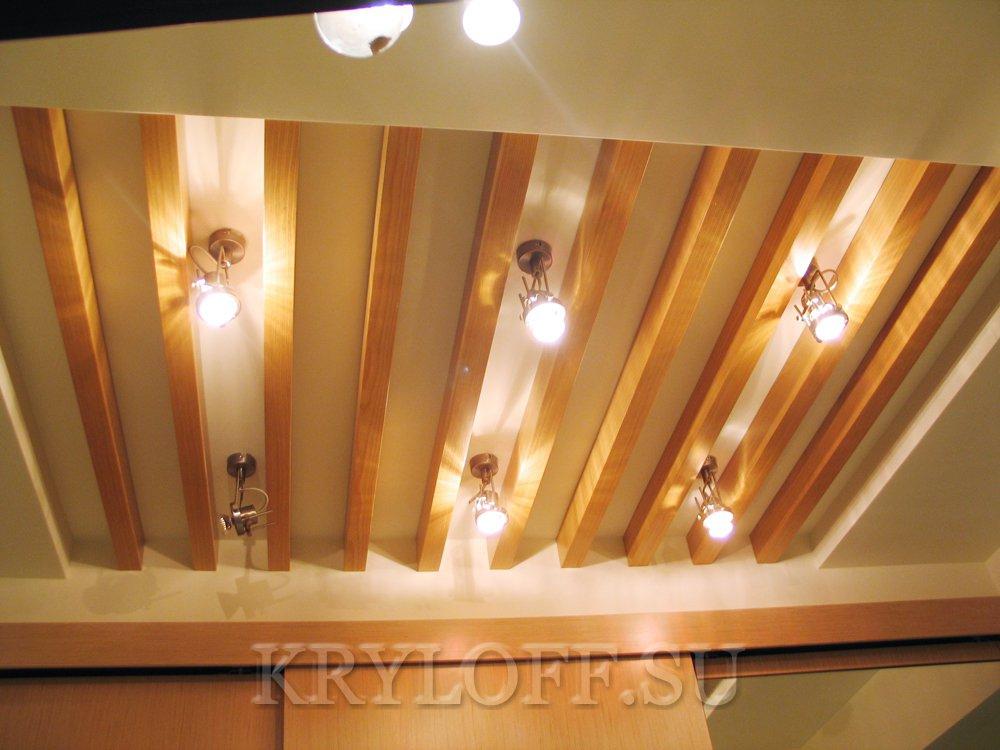 Деревянный потолок 2