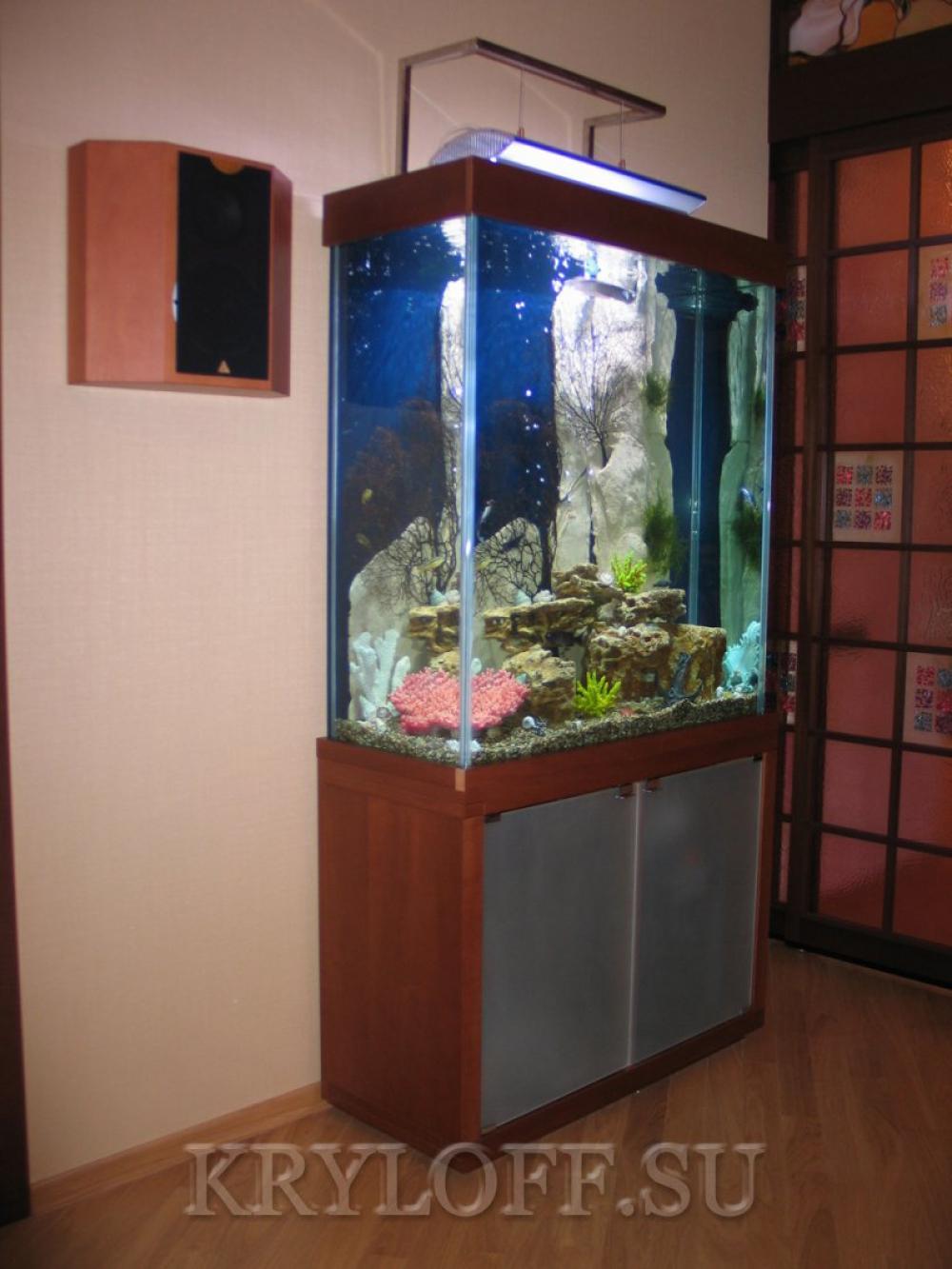 Облицовка аквариумов деревом 2