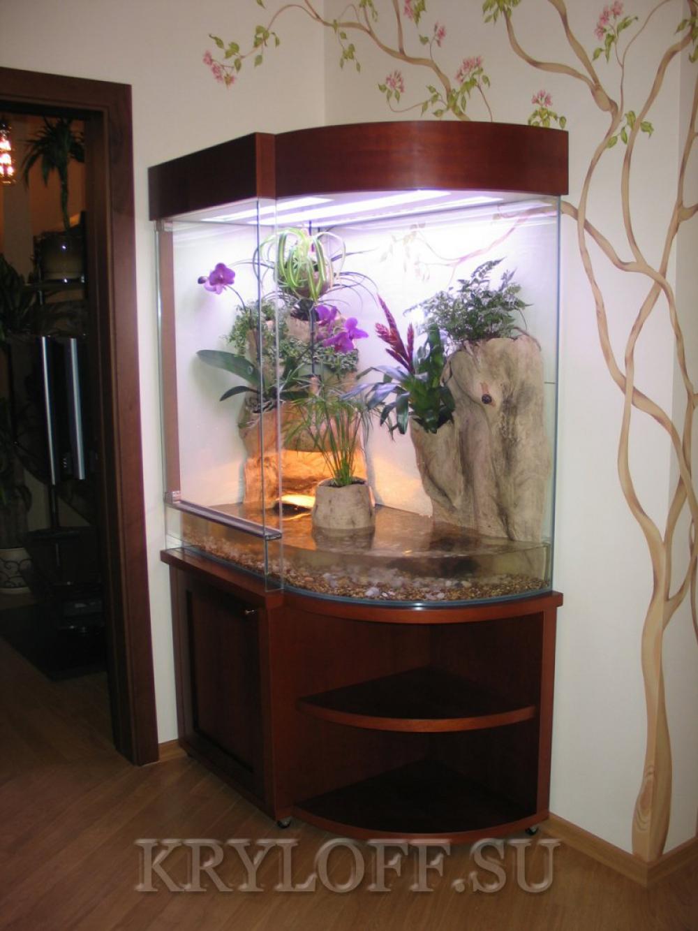 Облицовка аквариумов деревом 3
