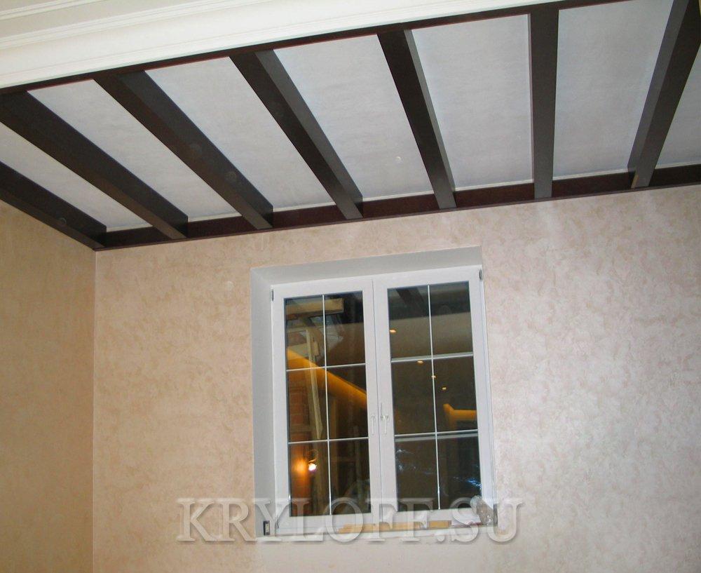 Деревянный потолок 7