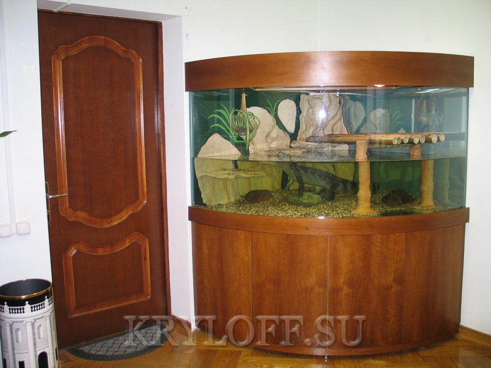 Облицовка аквариумов деревом 7