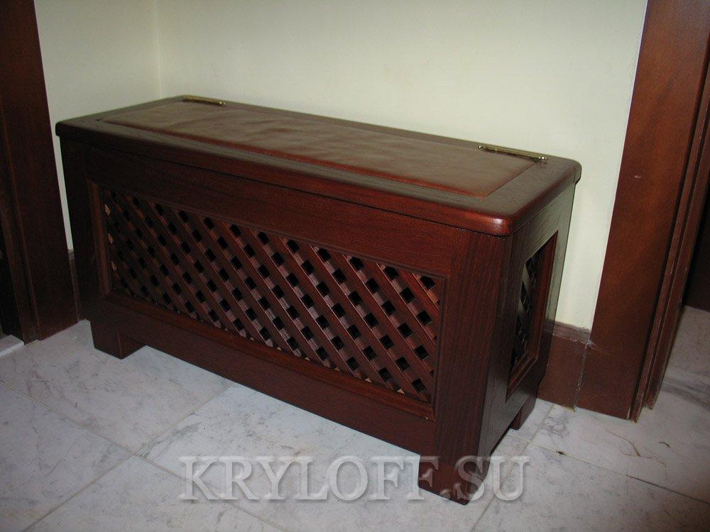 Мебель в прихожую из дерева 06
