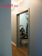 004 Двери раздвижные для гардеробной с пеналом