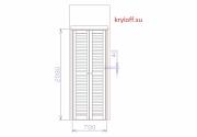 002 Двери для шкафа-кладовки из мдф