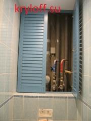 005 Жалюзийные двери в туалете