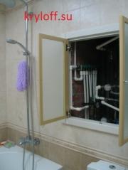 012 Шкаф коллекторный встраиваемый на заказ из мдф крашеный