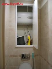 016 Деревянная дверца в туалет вместо скрытого люка
