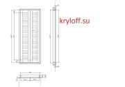 12 Шкаф для бойлера с жалюзийными дверками