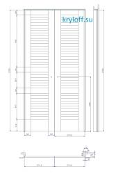 001 Шкаф с распашными дверками