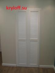 030 Распашные жалюзийные дверки в гардеробную комнату