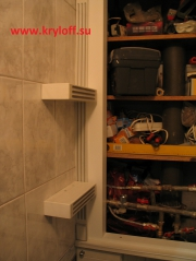 001 Шкаф от пола до потолка на заказ в туалет по индивидуальному проекту