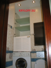 024 Жалюзийные дверки в санузел над стиральной машинкой на заказ из мдф