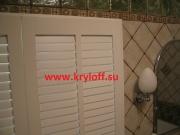 013 Реечные дверки белые для шкафа