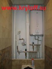 026 Распашные дверки для сантехнического люка в санузел