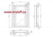 029 Дизайнерский сантехнический люк на заказ